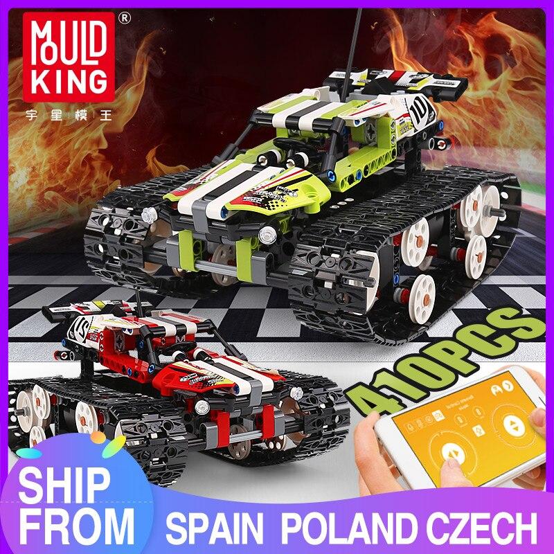 MOULD KING Crawler Car Racing Remote Control Car RC Tracked Racer Building Blocks lepining Technic 42065 Toys Bricks 13023 13024
