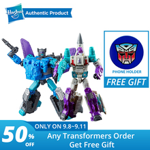 лучшая цена Hasbro Transformers Generations Power of the Primes Deluxe Class Dreadwin Blackwing Autobot Action Figure Model Car Toys