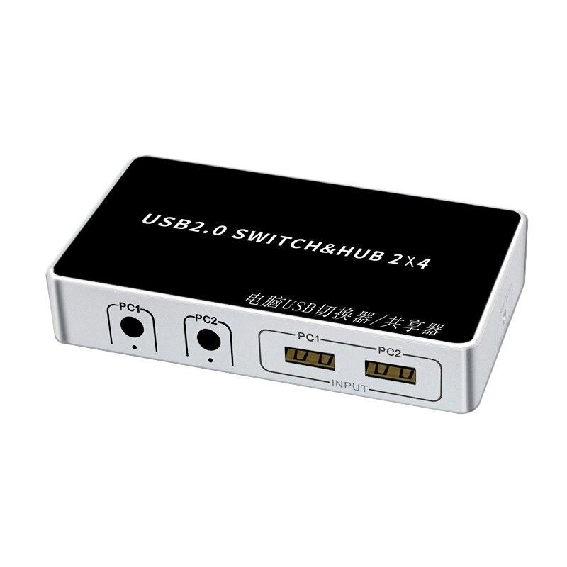 4 порта USB KVM переключатель 2In 4 Out USB печать разделитель для клавиатуры мышь принтер монитор