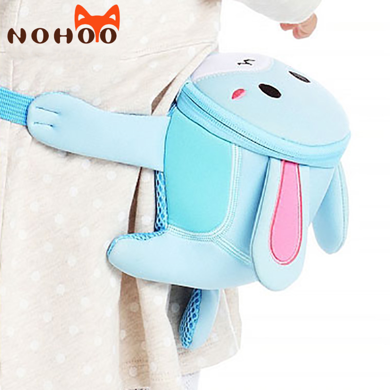 Fanny Pack Kids 3D Cartoon Animal Belt Bag Lovely Pochete Neoprene Travel Bag Kids 1-7year Old Rabbit Lion Dog Cat Waist Bag