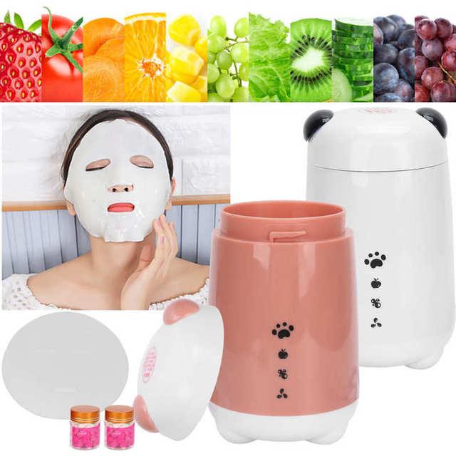 120ml Face Mask Machine DIY Fruit Vegetable Face Masks Maker Machine with Accessories Skin Care EU Plug 220V
