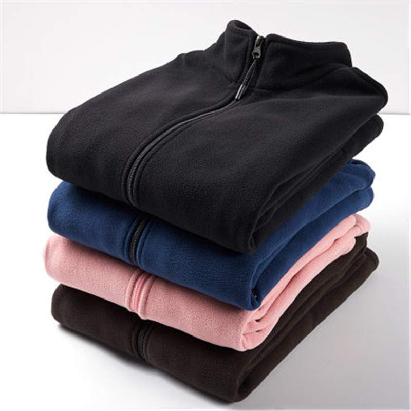 M-4XL Women Autumn Winter Thick Warm Soft Fleece Jacket Pocket Zipper Outerwear Overcoat Men's Outdoor Fleece Jacket Couple Coat