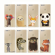 cartoon zebra penguin Bear fox Koalas lion bird panda tiger rabbit Hedgehog animal Phone Cases for huawe Honor 910 lite Mate 10
