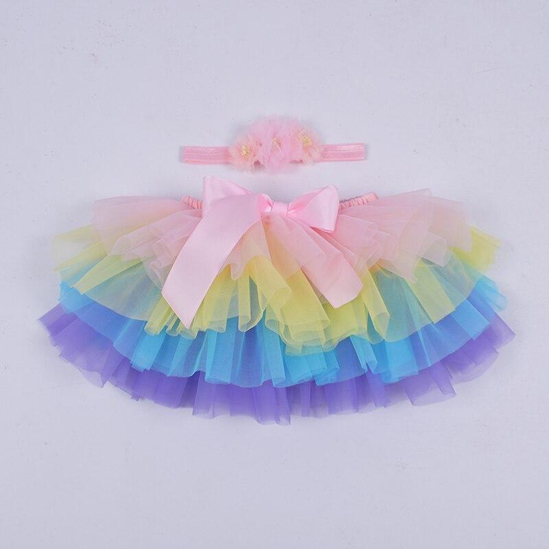 Юбка-пачка для маленьких девочек, комплект из 2 предметов, кружевные трусы из тюля, Одежда для новорожденных, Одежда для младенцев Mauv, повязка на голову с цветочным принтом, Детские сетчатые трусики