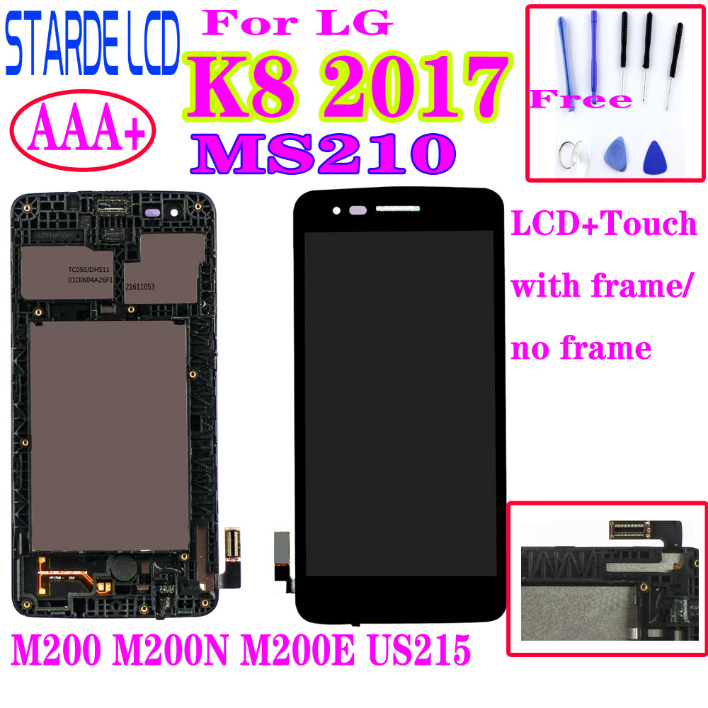 AAA+ For LG K8 2017 Aristo M200N M210 MS210 US215 M200 M200E LCD Display Touch Screen Digitizer Assembly With Frame|Mobile Phone LCD Screens|   - AliExpress
