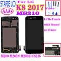 AAA + pour LG K8 2017 Aristo M200N M210 MS210 US215 M200 M200E LCD écran tactile numériseur assemblée avec cadre