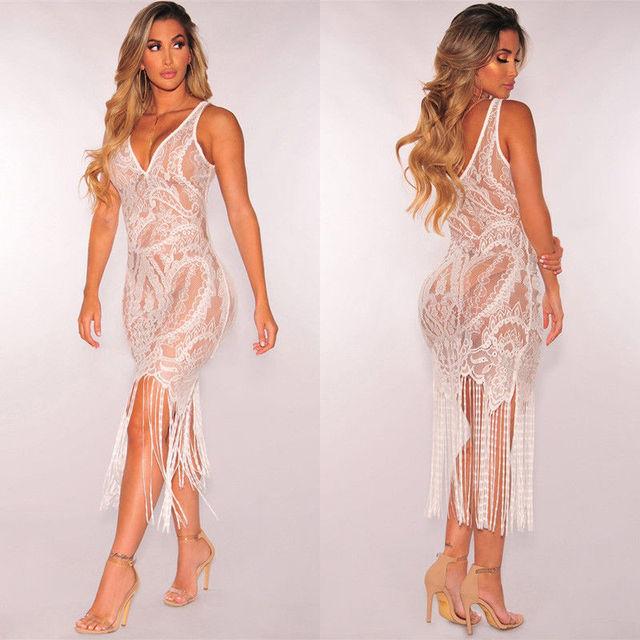 Hot Unique See Through Party Sheath Dress 5