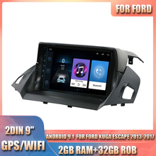 For Ford Kuga Escape 2013-2017 with Canbus Car Stereo Radio 9'' Quad- Core 2GB RAM 32GB ROM GPS WIFI Android 9.1