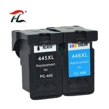 Ylc 1Set PG445 Xl CL446 Xl PG 445 CL 446 Compatible Cartridges Voor Canon Ip2840 2840 MG2440 2440 MG2540 2940 Mx494 printer
