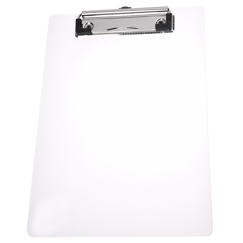 Clipboard Plate Door Translucent Block Clip For Paper A5 Office
