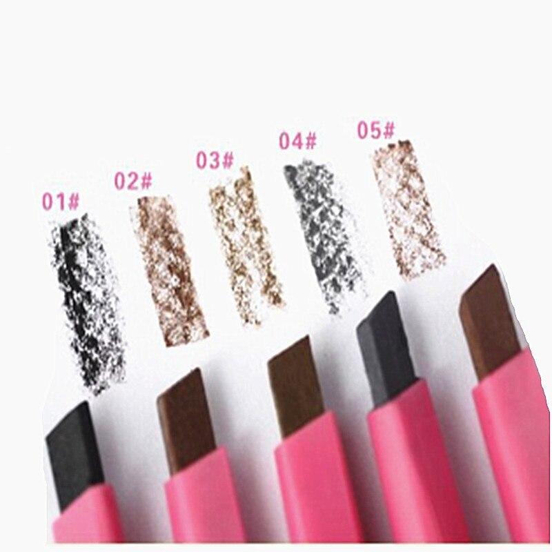 Водостойкий коричневый карандаш для бровей, для женщин и дам, подводка для бровей, пудра, формирователь, макияж, 5 цветов, новинка, 1 шт., тинт д...