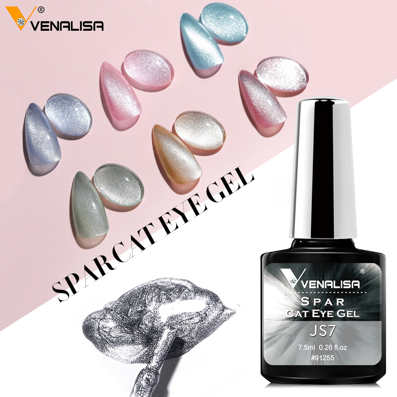 Venalisa Transparent Gel Polish Varnishes Hybrid Nails For Manicure 7.5ML Ice Spar Cat Eyes Soak off Enamel UV Gel Nail Polish(China)
