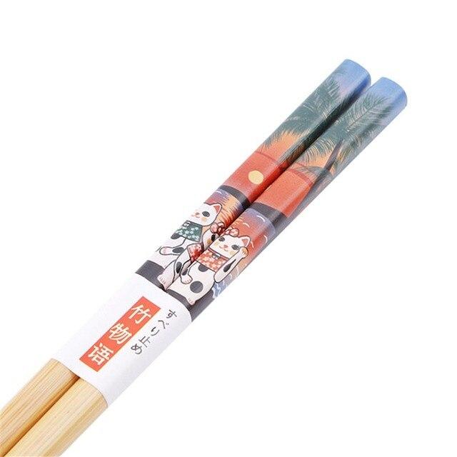 Фото палочки для еды многоразовые из натурального дерева 5 пар цена