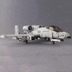 961 шт военные строительные блоки 06022 Thunderbolt II A10 модель самолета-истребителя игрушки для детей рождественские подарки