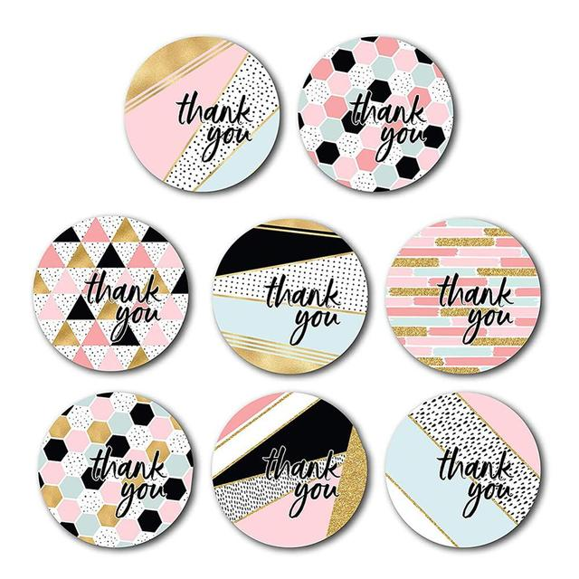 Thank You Stickers Roll 500pc 4