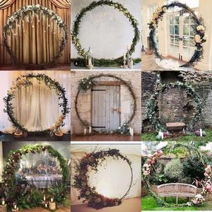 Image 3 - 6 ฟุต 8 ฟุต 2.5 M วงกลมขนาดใหญ่งานแต่งงานวันเกิด Arch ตกแต่งพื้นหลัง Wrought Props เดี่ยว Arch ดอกไม้ประตู Rack สนามหญ้ากลางแจ้ง