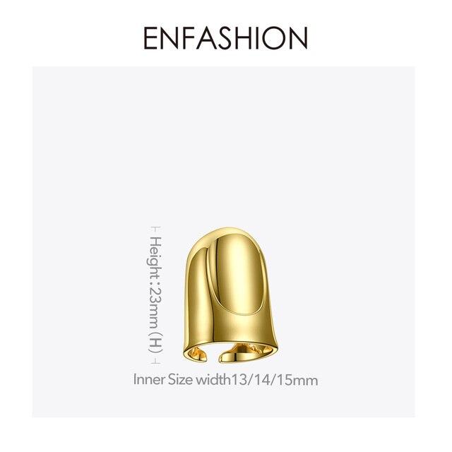 Фото женское кольцо enfashion в стиле панк на палец аксессуары золотого цена