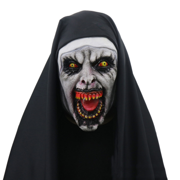 Horror Nun Mask Halloween Clothes Scary Zombie Ghost Halloween for Women Creepy Demon Nun Party Props creepy halloween ghost props electric voice ghost doll toys horror halloween haunted house decoration party suppies kids gift
