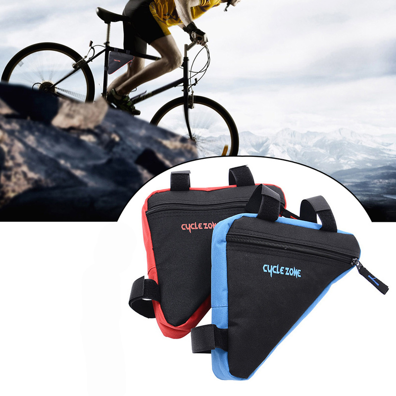 Image 2 - MTB Road bike front frame triangle bag bicycle beam bag bicycle tube bag bracket saddle bracket kit bicycle accessories-in Bicycle Bags & Panniers from Sports & Entertainment
