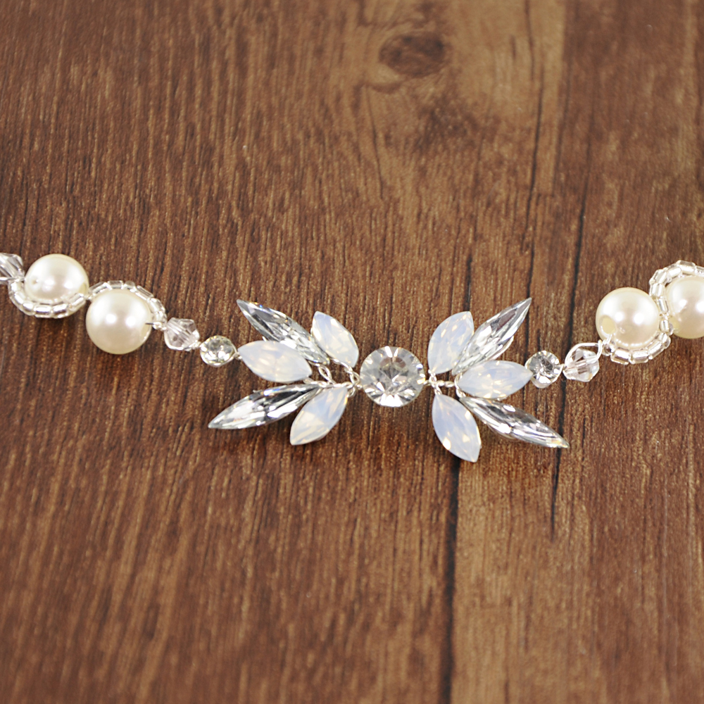 Купить с кэшбэком TRiXY SH132 Rhinestone Belts Wedding Belts Pearls Wedding Sash Belt for Bride Bridesmaid Wedding Accessories Thin Bridal Belts