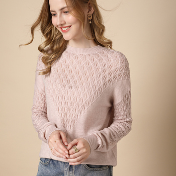 Pullover sweater women 2020 plus size solid color wool round neck sweater ladies clothes casual knit sweater inde top hot sale 1