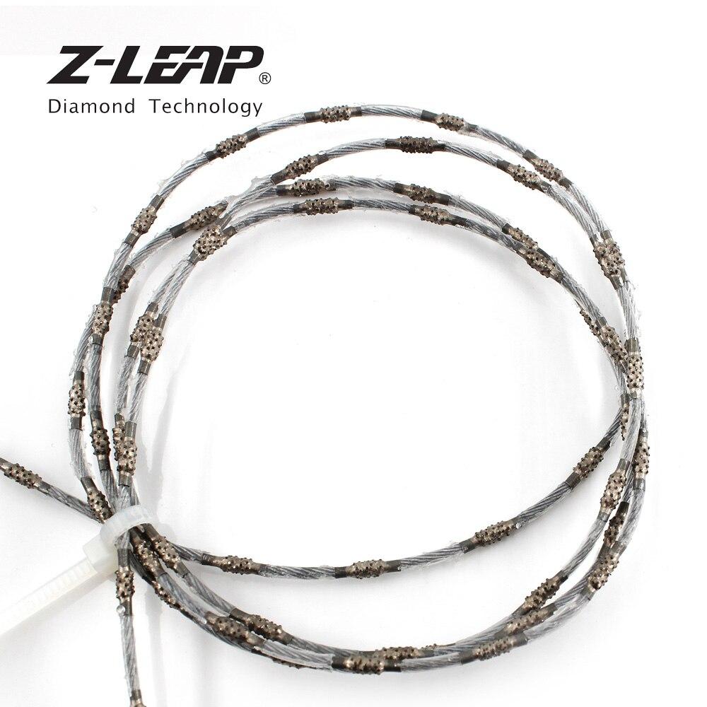 Z-LEAP 2.2/4.0mm Diamond Wire Saw Granite Jewelry Metal Wood Stone Cutting Wire Vacuum Brazing Jig Saw Blade For Cutting Machine