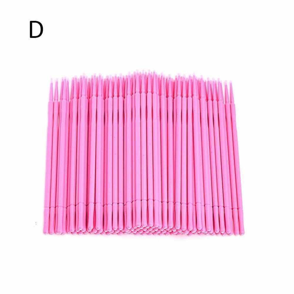 100 Pcs Aplikator Kuas Sikat Gigi Mikro Sekali Pakai Bahan Tahan Lama Micro Maskara Tongkat Spoiler Bulu Mata Kuas Kosmetik
