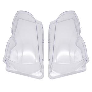 Image 1 - Car Headlight Glass Cover Clear Transparent Automobile Headlamp Head Light Lens Auto Products For BMW E46 3 series 2002 2006