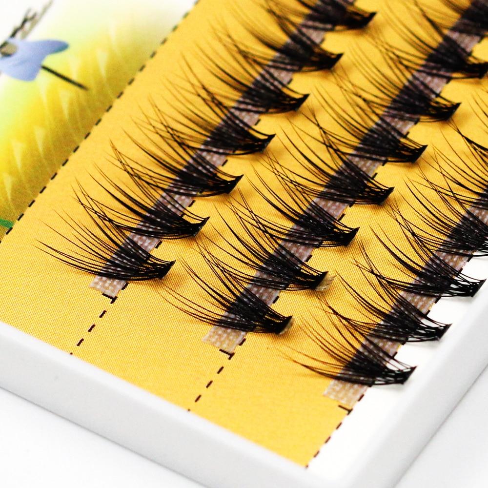 Grafting World 0.1mm Thick Deep Black 20D False Eyelash 120 Pieces Individual Lashes Russia Cilia Make Up Professional Use