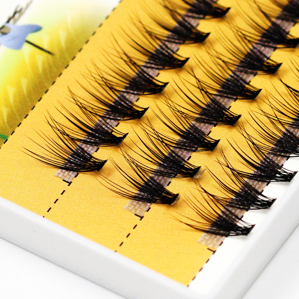 Grafting World 0.1mm Thick Deep Black 20D False Eyelash 60 Pieces Individual Lashes Russia Cilia Make Up Professional Use