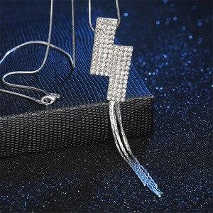 Длина 75 см Элегантное Длинное Ожерелье с кисточками из сплава модные ювелирные изделия для свадебной вечеринки