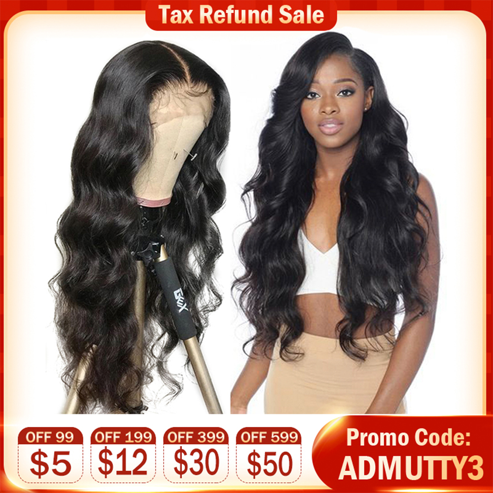 Peruvian Body Wave 13*4 Lace Front Wigs Glueless Lace Front Human Hair Wigs For Black Women Pre Plucked With Baby Hair Non Remy