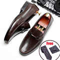Мужские туфли Броги из натуральной кожи, деловые, свадебные, банкетные туфли, мужские повседневные туфли на плоской подошве, винтажные Туфл...