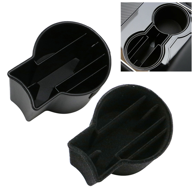 For Tesla Model 3 Car Cup Storage Slot Card Slot Mobile Phone Cigarette Storage Center Control Cap Case Decorative Accessories
