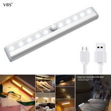 Wireless Lamp Under Cabinet led Shelf Lights With Pir Motion Sensor lamp Kitchen USB Rechargeable lighting Stairs Wardrobe