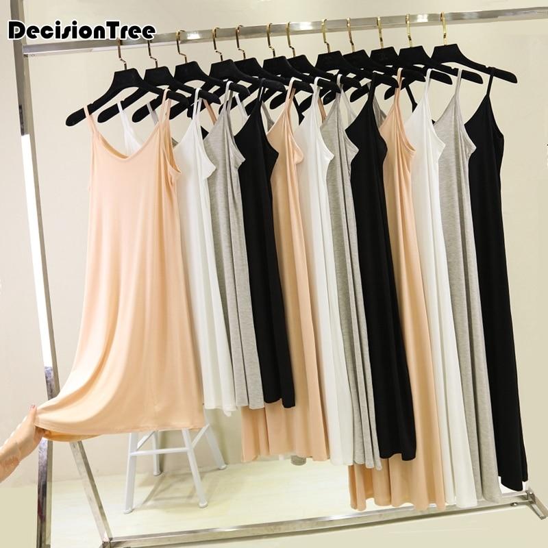 2020 женское платье комбинация, Полная Нижняя юбка, женское платье, базовая юбка комбинация, Нижняя юбка, vestidos, свободная Нижняя юбка Комбинации      АлиЭкспресс