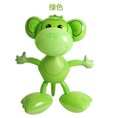 Inflatable Monkey Simulation Animal Model Kindergarten Children's Game Toy Activity Decoration Props