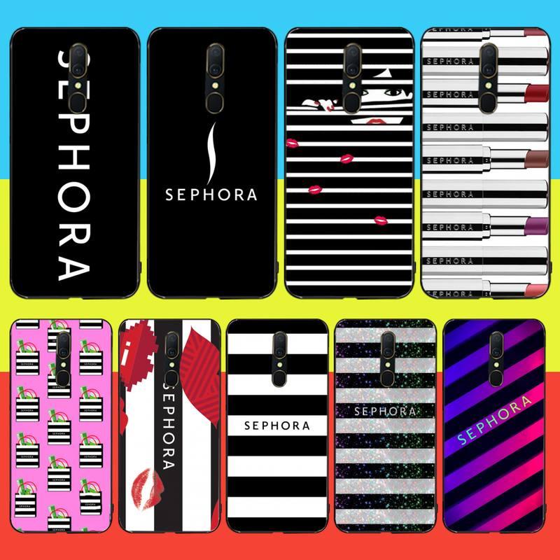 PENGHUWAN super cute Sephora Soft Silicone Black Phone Case For Oppo A5 A9 2020 Reno Z Realme5Pro R11 case