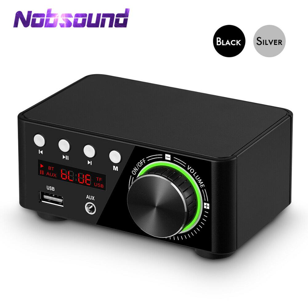 Nobsound Mini Bluetooth 5.0 Power Amplifier Receiver Stereo 2 Ch Home Audio Car Amp USB U-disk Music Player With 19V Adapter