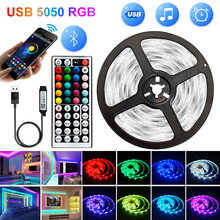 5V 5M-30M 5050 tiras de Led USB luces RGB impermeable cinta de diodos Led lámpara para decoración fiesta TV dormitorio fondo