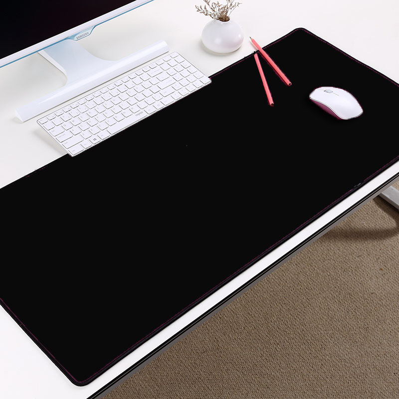Super Big Large Xxl Pure Black Color Rubber Computer Game Gaming Mouse Pad Mat To Decorate Pc Desktop For Gamer Player