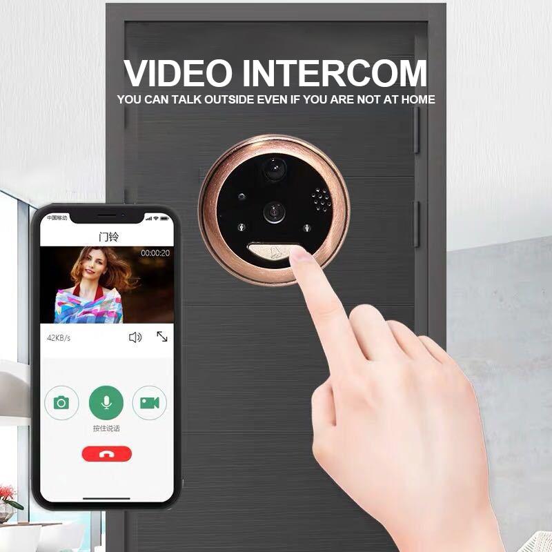 Купить с кэшбэком Wireless Peephole Intercom DoorBell Infrared Night Security Camera HD Support Phone Remote Apartment Security Viewer Doorbell