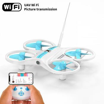 Rc Drone z kamerą HD FPV Mini Drone pilot do zdalnie sterowanego drona wysokość trzymaj Dron tryb bezgłowy helikopter dla dzieci zabawki tanie i dobre opinie AHOHA Z tworzywa sztucznego 9*7 5*2 5cm Avoid human contact when controlling flying drones Mode2 1 mounth Silnik bezszczotkowy