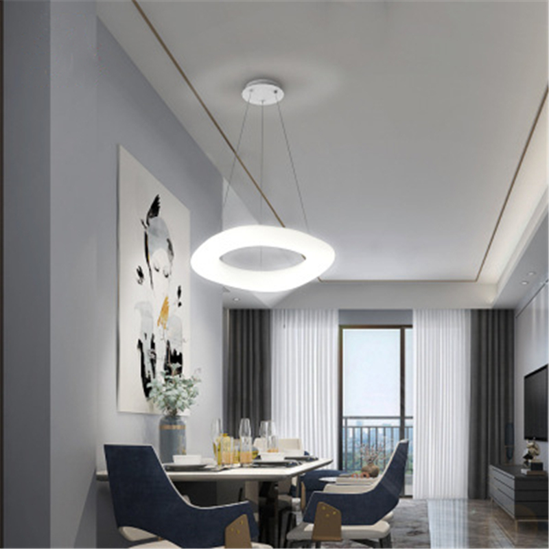 Modern Minimalist Bedroom Living Room Study Chandelier Creative Hotel Store Decoration LED Chandelier Free Shipping
