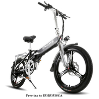 20 Inch Elektrische Fiets Aluminium Opvouwbare Elektrische Fiets 400W Krachtige Mottor 48V10A Batterij 32 Km/h Berg E Fiets Stad /Sneeuw Bike op