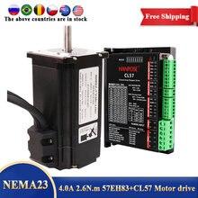 57EH83A4001 Hybrid Stap-Servo CL57 Driver 57X83mm Nema23 Gesloten Lus 4A 2.6N.M 57CME26 Servo Motor Stappenmotor Voor Cnc