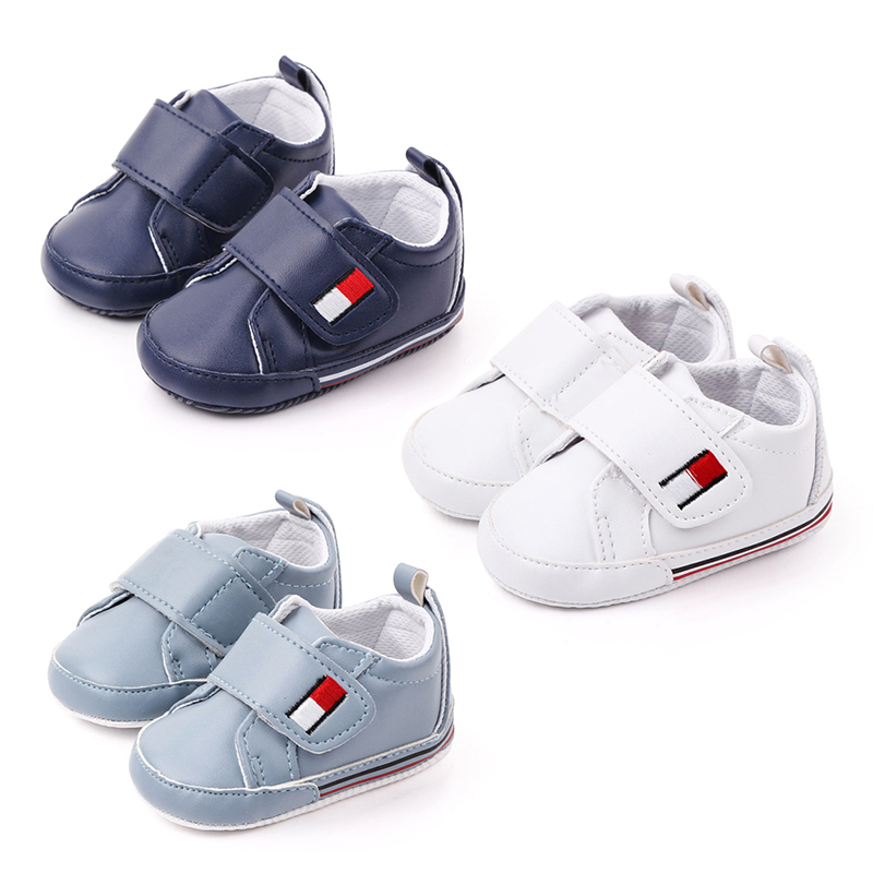 Breathable Pu Leather Baby Shoes Toddler Baby Boy Shoes For Months Wholesale First Walkers Anti-Slip Crib Shoes