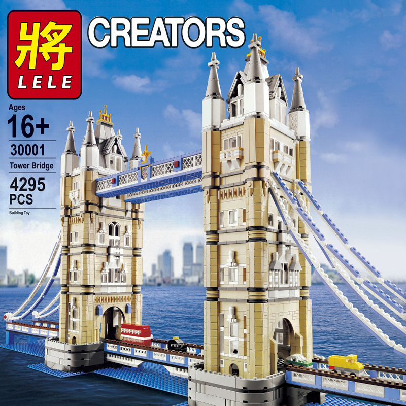 City Series Creator London Bridge Expert Tower Figure Building Blocks Bricks Compatible LegoingLYs 10214 Toys For Children Gifts