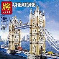 LELE 30001 City Series London Bridge Creator London Bridge Expert Tower Figure Building Blocks Bricks Compatible legoingLYs 10214 Toys for Children Gift