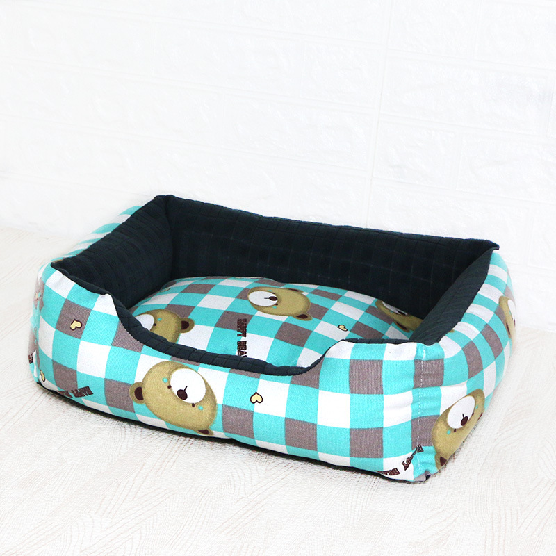 Pet Cat Dog Bed Warm Cozy Dog House Soft Nest Dog Baskets House Mat Autumn Winter Waterproof Kennel Removable Dog Bed 11